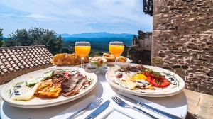 Our Breakfast, Petropoulaki Tower: Gytheio hotels Mani rooms guesthouses accommodation Peloponnese